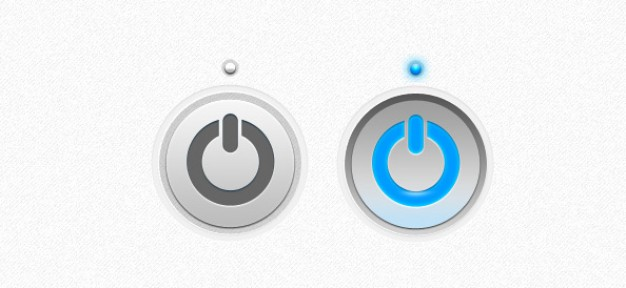 power button template with grey and blue states