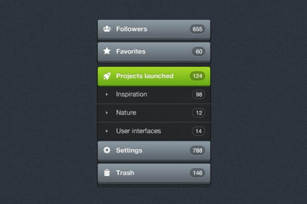 refined interface layered material for setting UI design