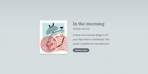 sexy stamp with alarm clock over gray background