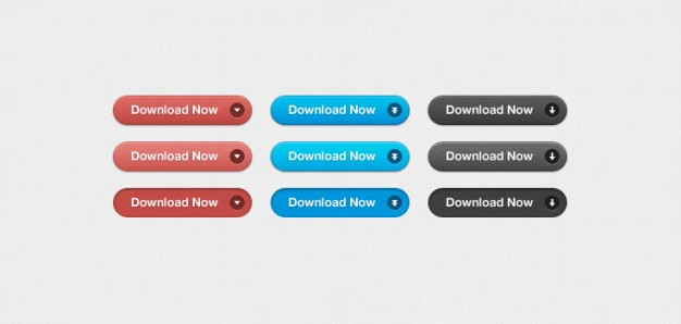 simple download buttons in three color style
