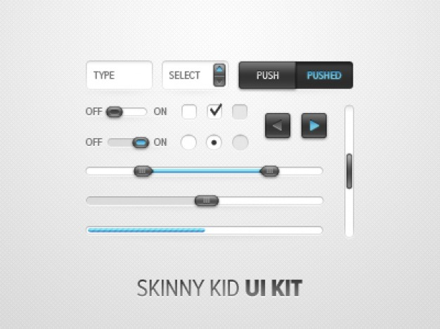 skinny kid kit with button form field