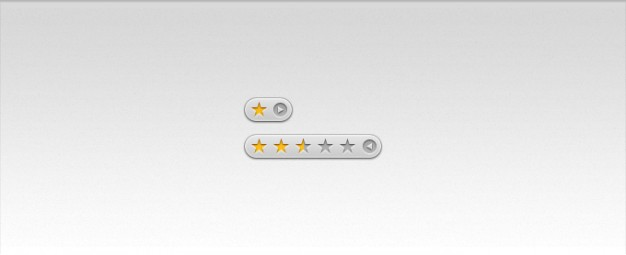 star rating icon with clear style