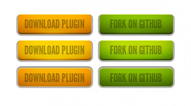 sticky plugin page download buttons and fork on github