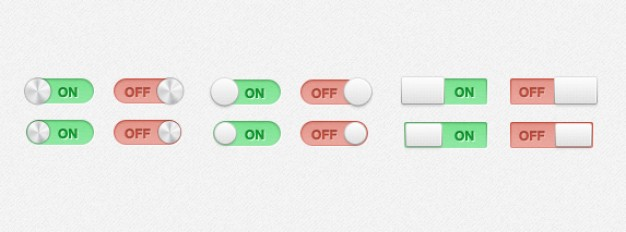 switches with onoff and toggles states