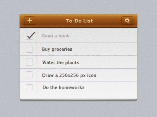 to do list interface design with earth yellow title