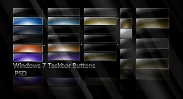 win style black cool buttons template material in dark style