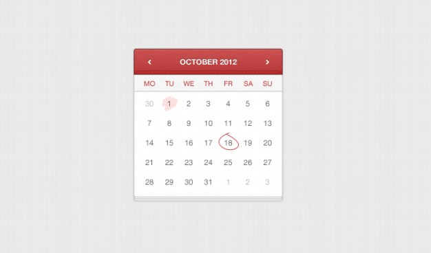 application calendar leather web app UI design that stitched by hand