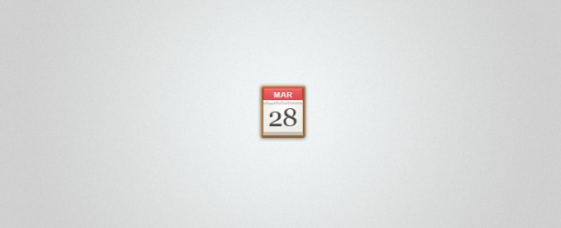 calendar icon with date over gray background