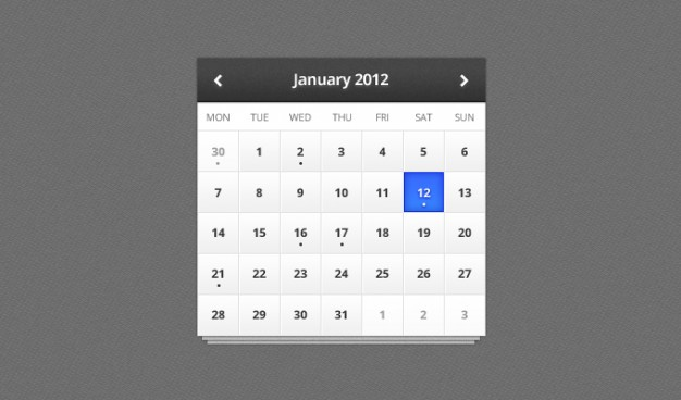 calendar pattern with contrast dark date light month texture ui