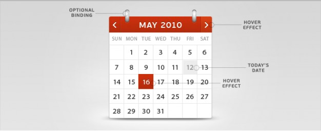calendar template with function explain