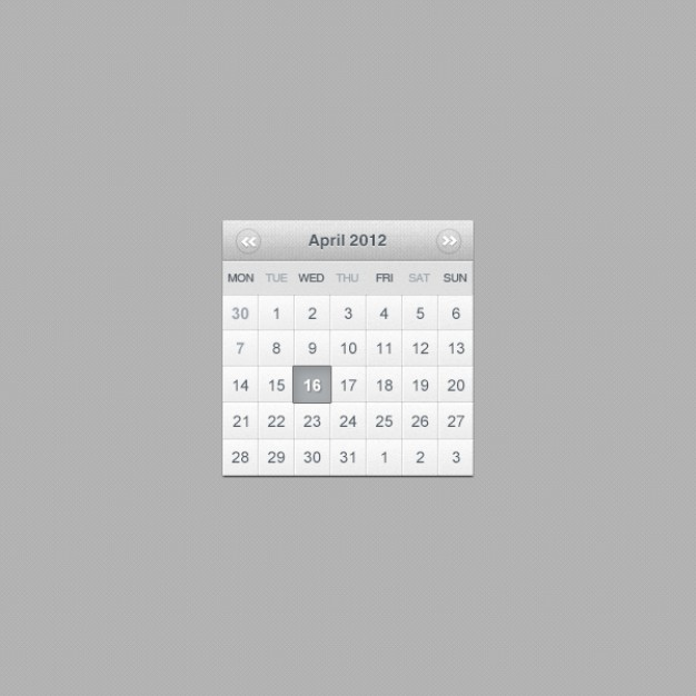 calender layered material for web design