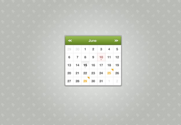 sexy calendar with green title over elegant gray background