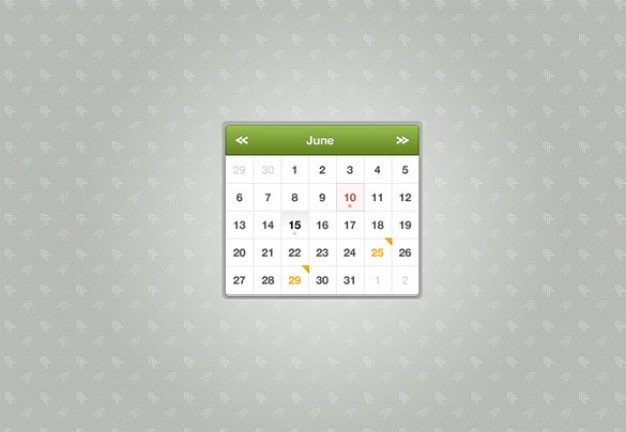 small sexy month calendar widget over elegant gray background
