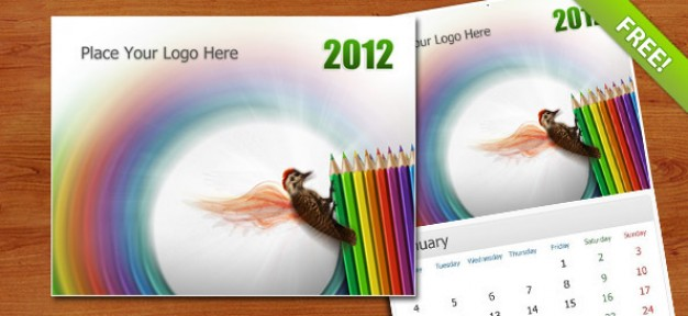 wall calendar Template of 2012