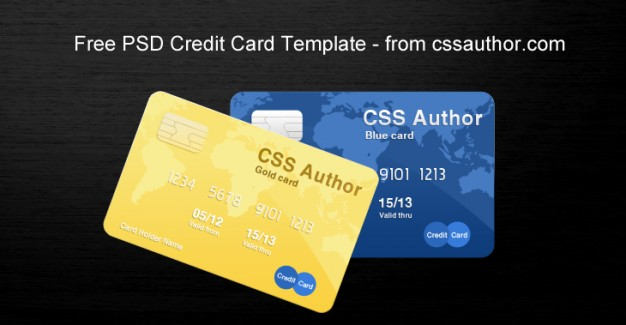 awesome credit card template over dark background