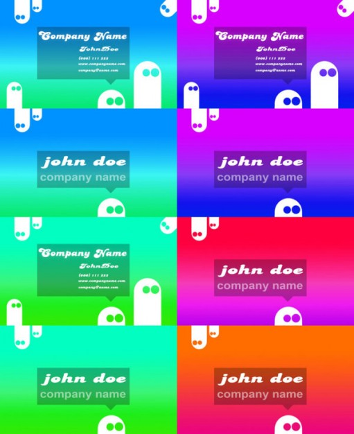 business card template layered material in colorful