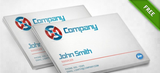 business card template with white background