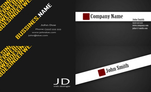 business card templates layered material in dark style