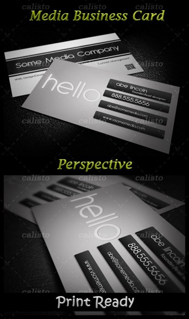 card display template material in gray for template