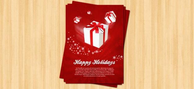 christmas flyer template for happy holiday