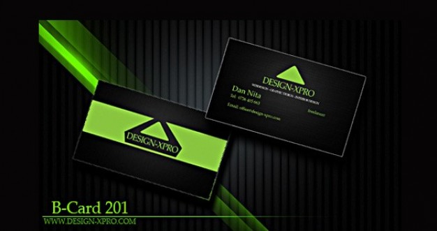 dark modern business card template set