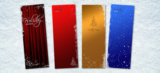 elegant christmas banner templates in four style