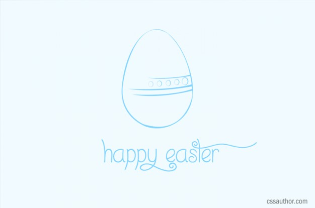 happy easter greetings with light blue background