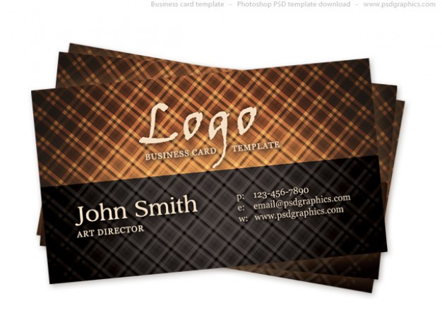 hot vintage business card with chocolate grid lines