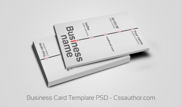 light style business card templates over gray background