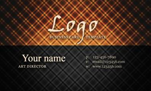 nostalgia trend of business card templates material with orange light and grids background