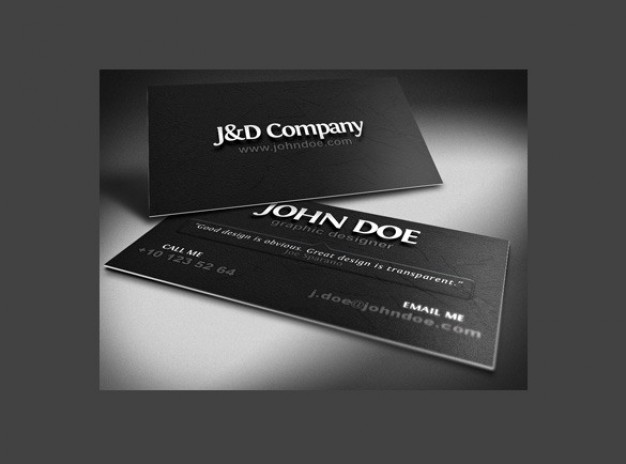 pro business card mockup in dark style