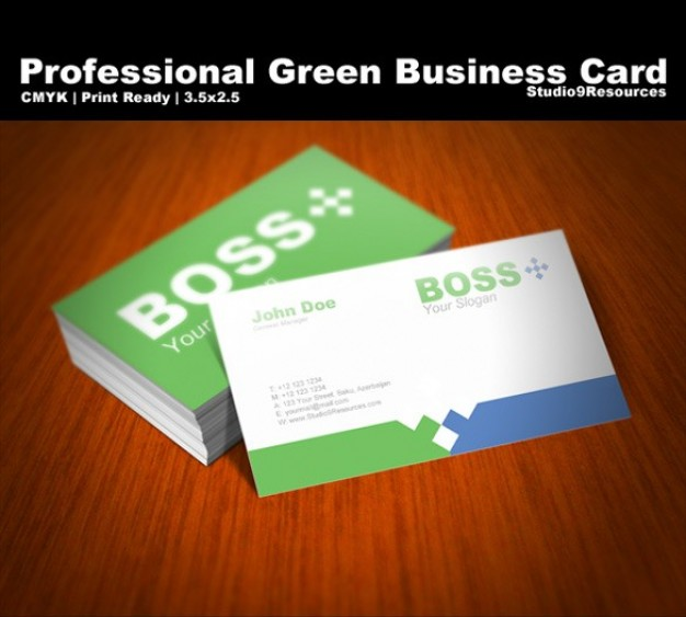 professional business card template set over Bordeaux wood