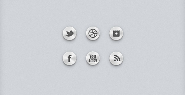 social buttons or social icons or social ui