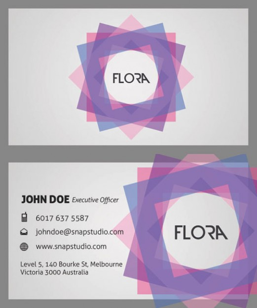 sophisticated business card template material with colorful grid circle