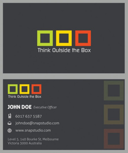 sophisticated business card template material with three color grid