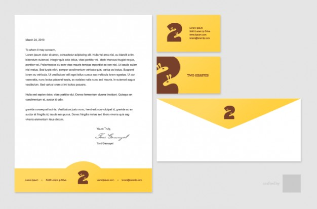 stationary business letter and envelope template