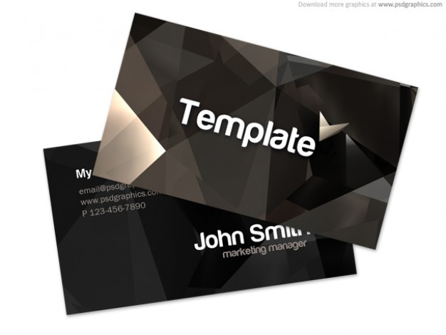 stylish business card template with dark grids