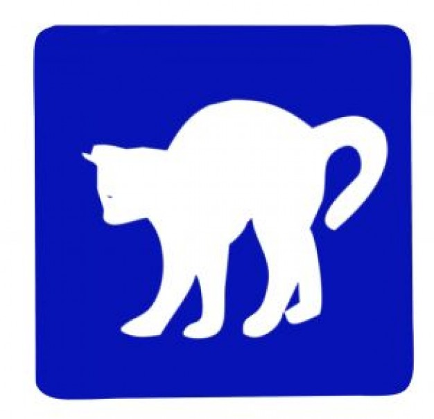 Cat Pet sign about Recreation Purr