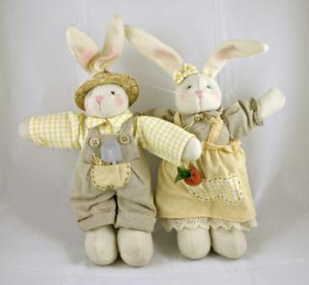 Easter Dolls rabbit dolls toy about cloth art Craft