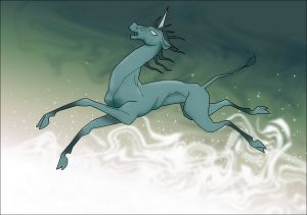 green art flying horse unicorn about Legendary creature Science Fiction and Fantasy