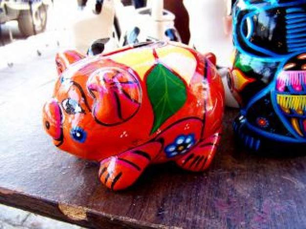 Oaxaca mexican Mexico craft pig bank about Alebrije States
