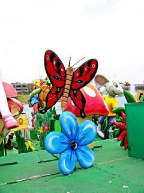 Oaxaca mexican Mexico craft plastic butterfly about Alebrije States