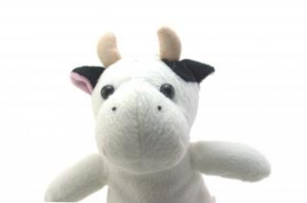 funny cow toy good in front view