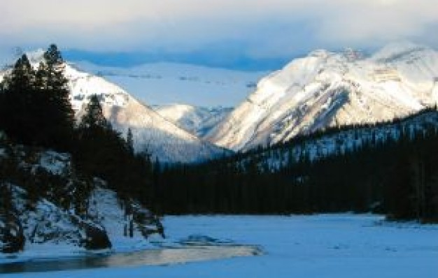 Goat mountain Horn range about snow forest mountain landscape