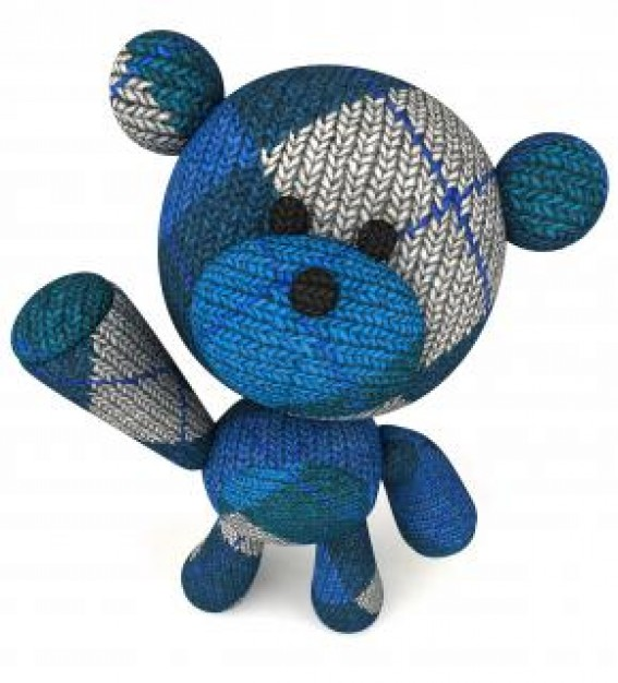 wool teddy bear toy with welcome action