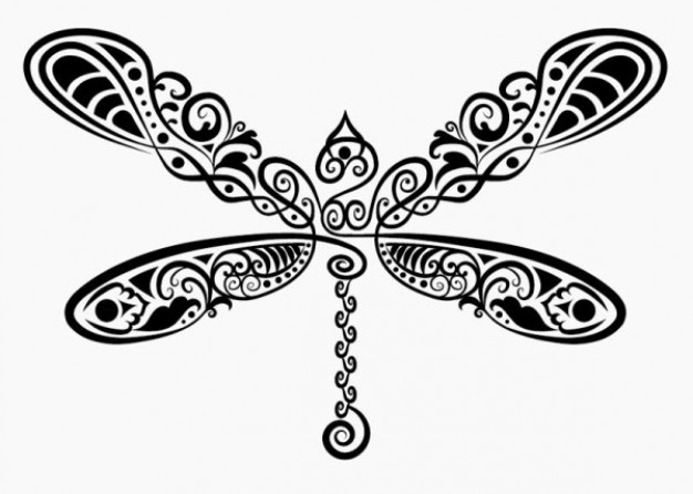 butterfly in line art