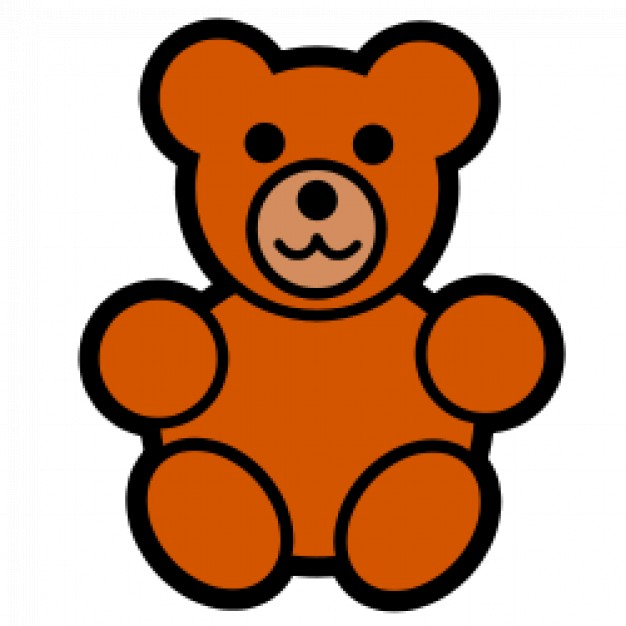 teddy bear icon in front view