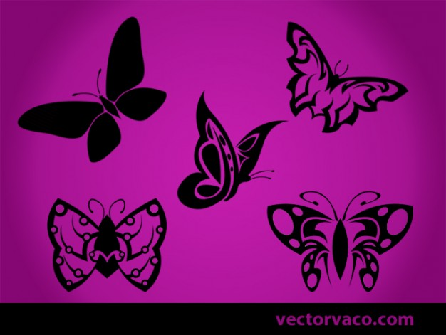 tribal butterfly over purple background