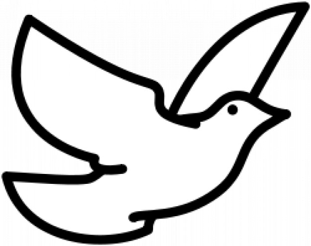 dove flying doodle in simple line
