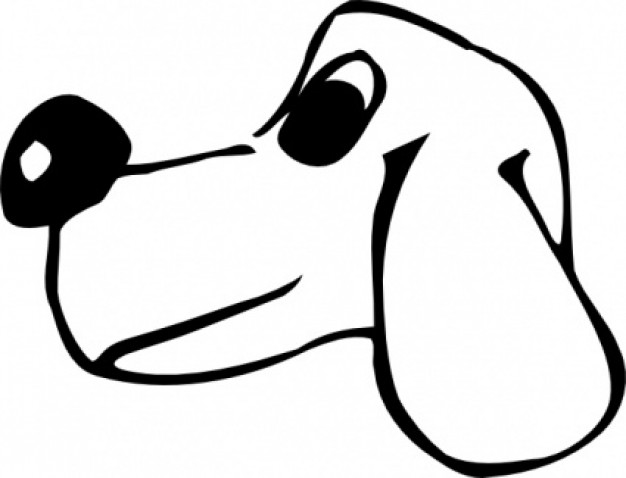 dog head clip art in side view